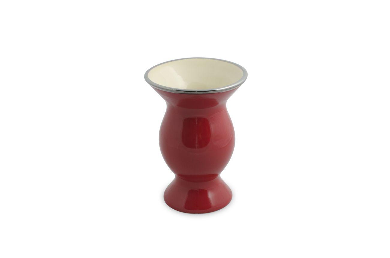 Cuia De Cerâmica Mondoceram Lisa - Vermelha