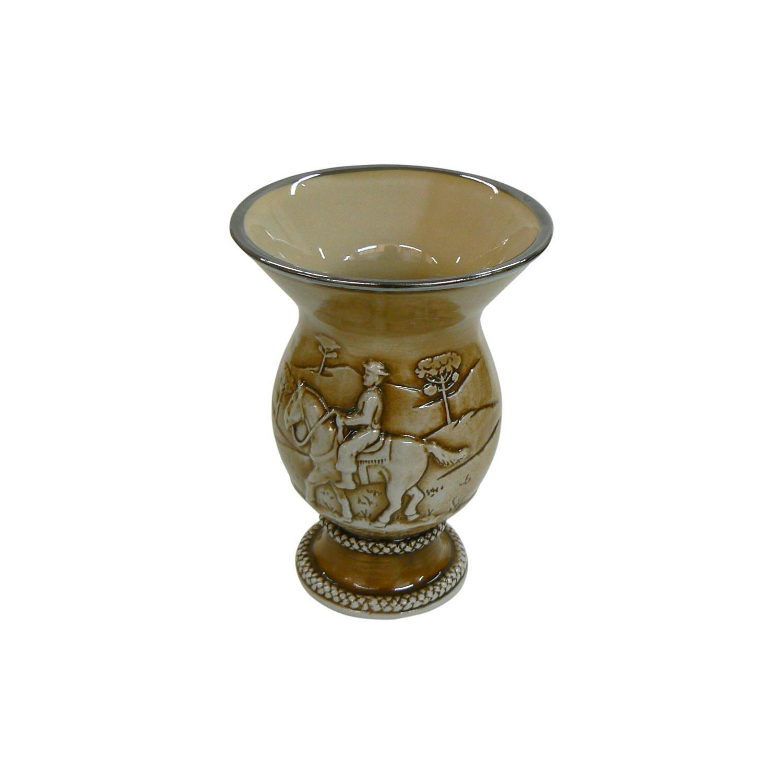 Cuia De Cerâmica Tropeiro Marrom Alto Relevo 350Ml Modoceram