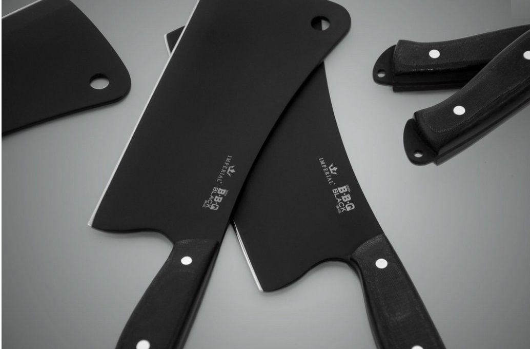 Cutelo BBQ Black 175 Micarta Preta - Imperial Cutelaria