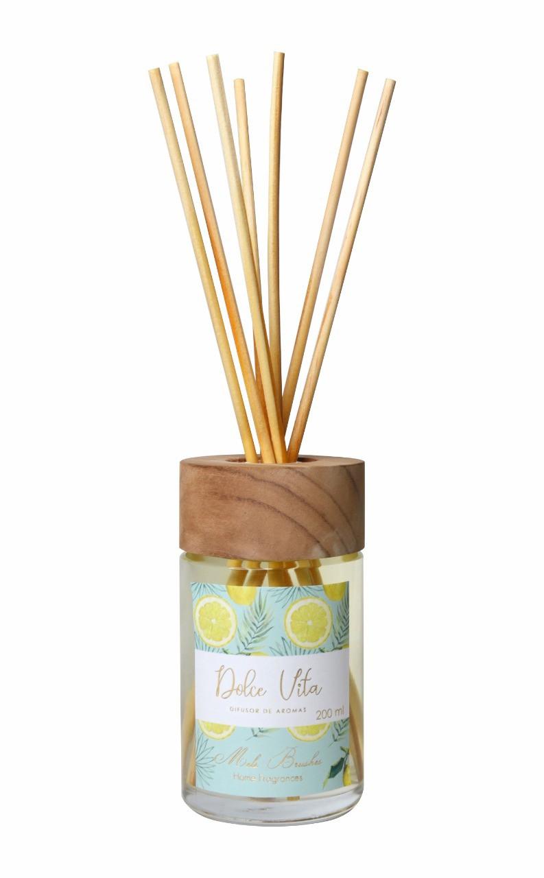 Difusor De Aromas 200 Ml Equilíbrio - Dolce Vita - Mels Brushes