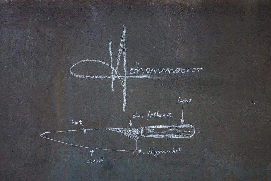 Faca Artesanal De Chef Y2 Hohenmoorer Em Aço Carbono 24Cm