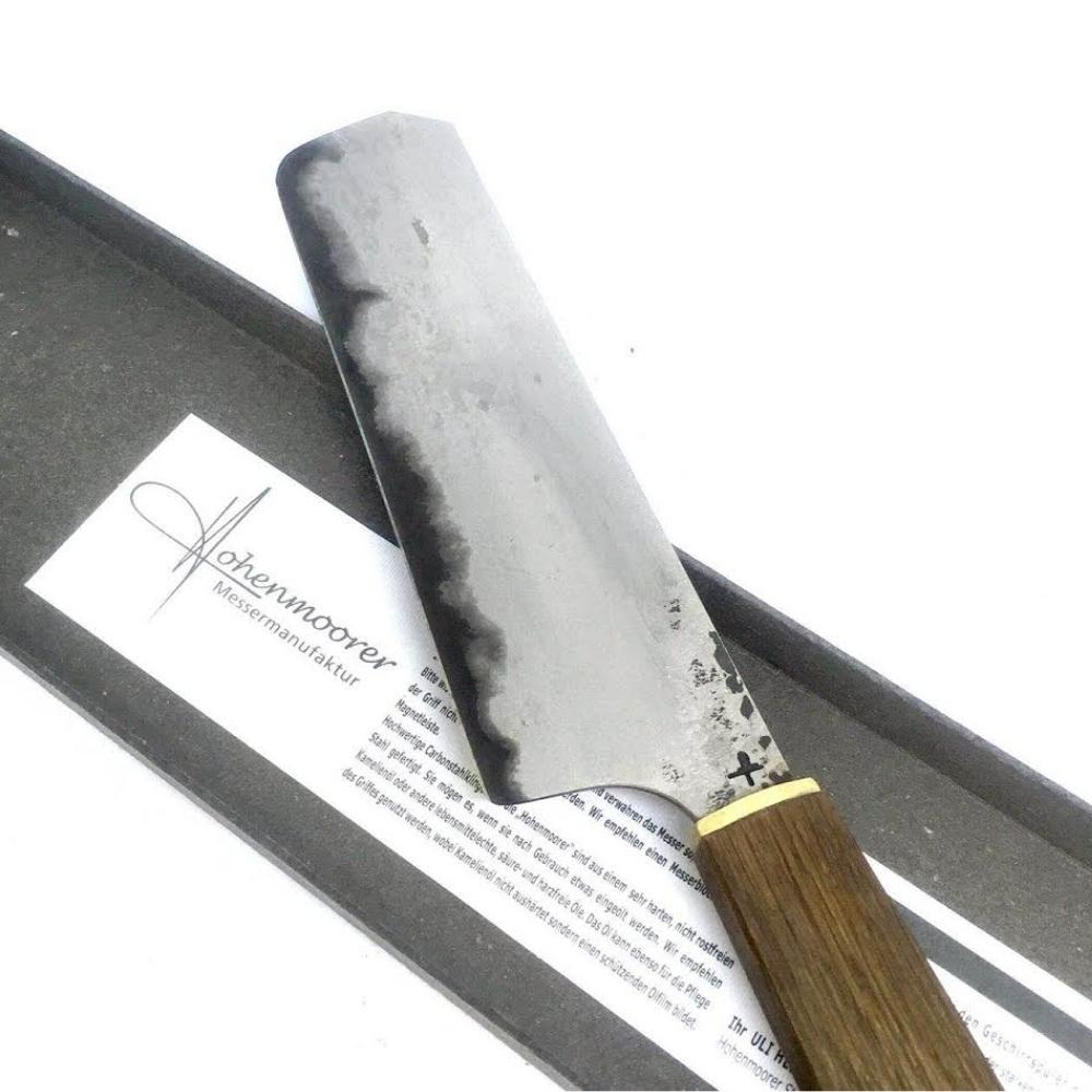 Faca Artesanal Nakiri Hohenmoorer Tripla Camada De Aço Carbono 18Cm