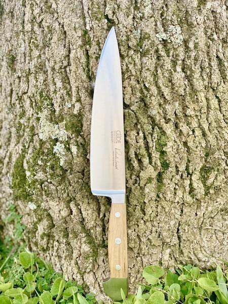 Faca De Chef 21Cm Güde Alpha Barrel Oak Com Cabo Em Carvalho De Barris De Vinho