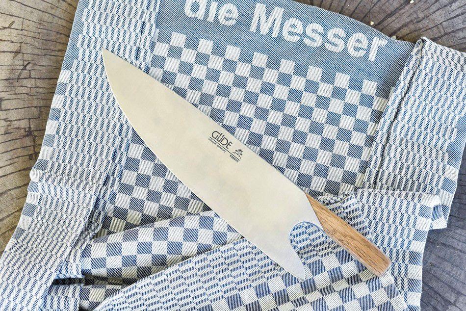 Faca De Chef 26Cm Güde ''The Knife'' Com Cabo Em Madeira De Oliveira