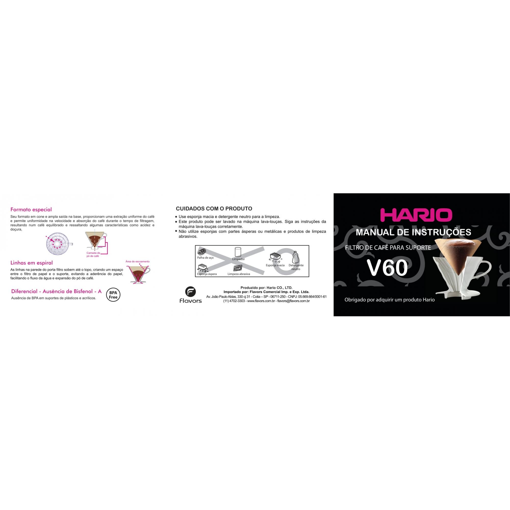 Filtro Natural Para Hario V60 02 – 40 Unidades
