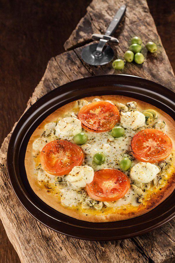 Forma De Cerâmica Ceraflame Para Pizza 28Cm Preto