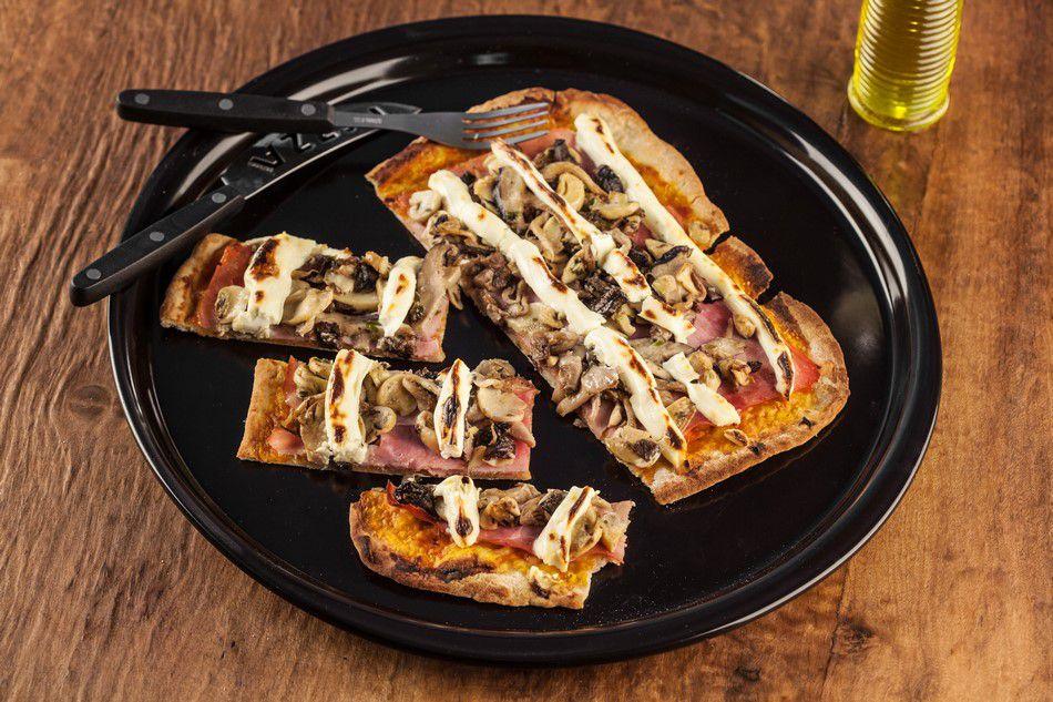 Forma De Cerâmica Ceraflame Para Pizza 35Cm Preto