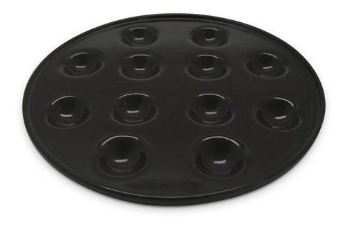 Forma De Cerâmica Ceraflame Provolone Com 12 Cavidades Preto