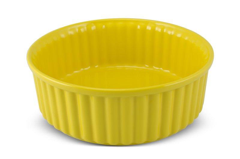 Forma De Cerâmica Mondoceram Para Suflê 24Cm 2500Ml - Amarelo