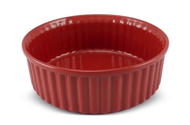 Forma De Cerâmica Mondoceram Para Suflê 24Cm 2500Ml - Vermelho