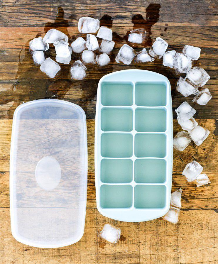Forma De Silicone Para Gelo Com Tampa - Water Blue - Oxford