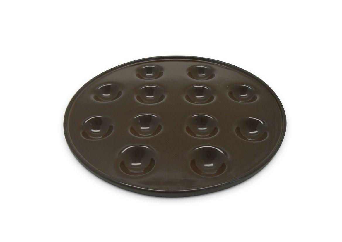 Forma De Cerâmica Ceraflame Provolone Com 12 Cavidades Chocolate