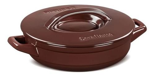 Frigideira Com Alça De Cerâmica Ceraflame 24cm  Duo+ Chocolate