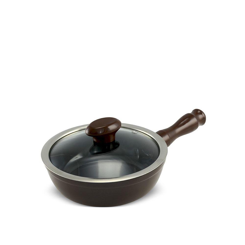 Frigideira De Cerâmica Ceraflame Chef 18Cm 900Ml  - Chocolate