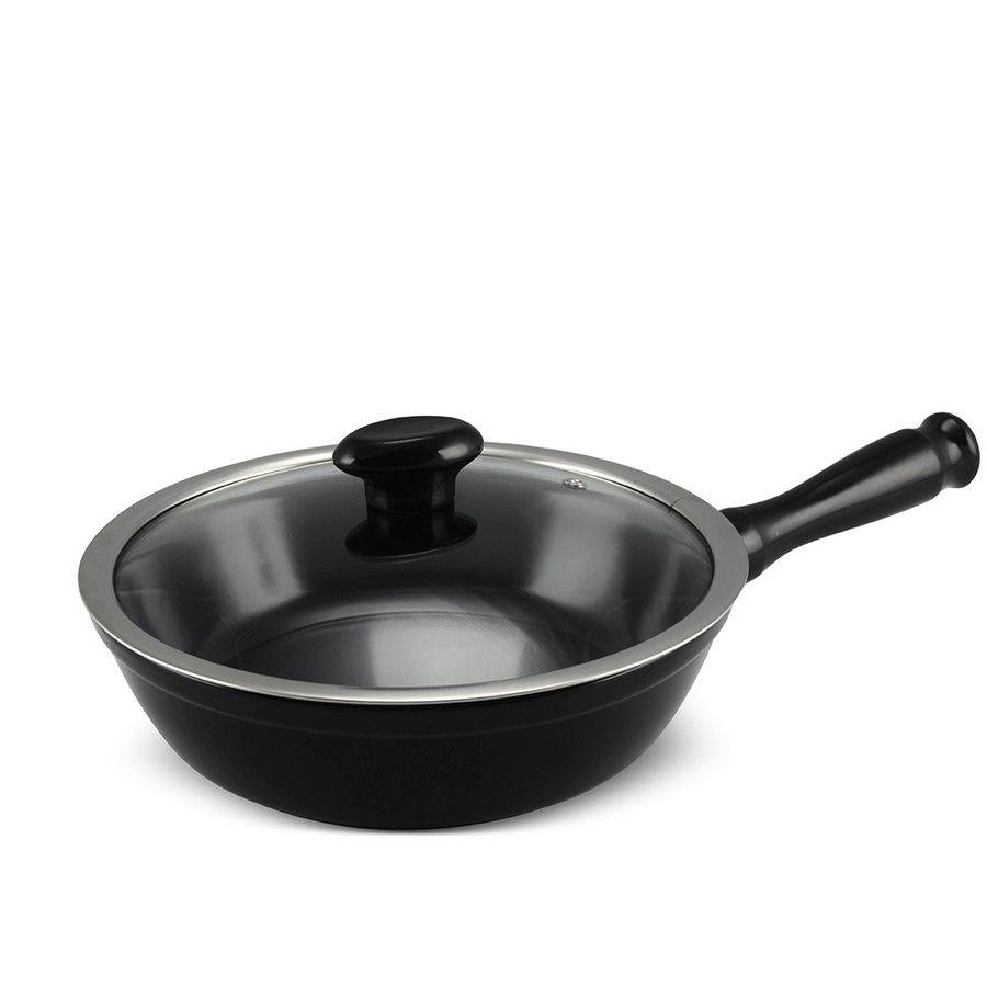 Frigideira De Cerâmica Ceraflame Chef 24Cm 1800Ml  - Preta
