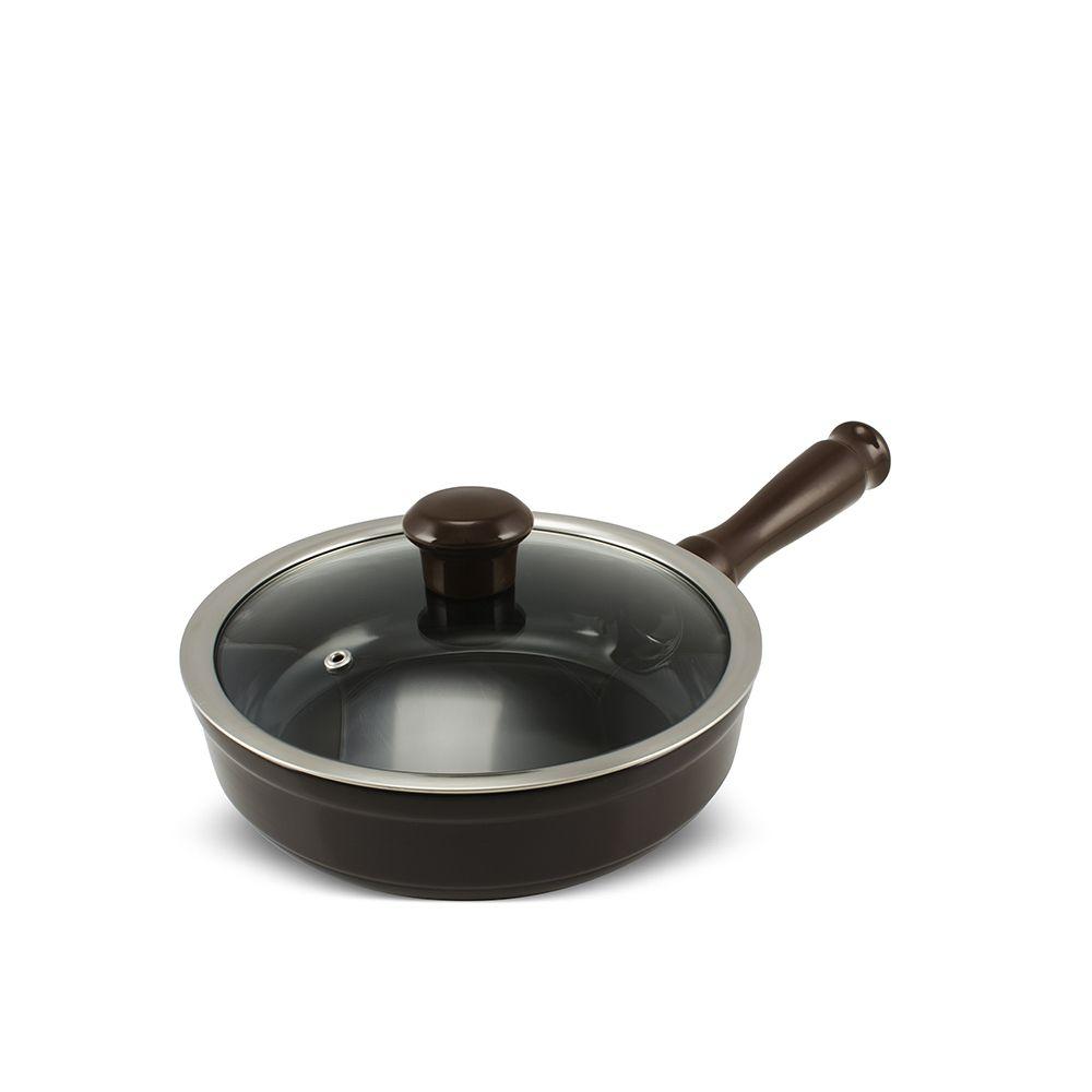 Frigideira De Cerâmica Ceraflame Duo 20Cm 1000Ml - Chocolate