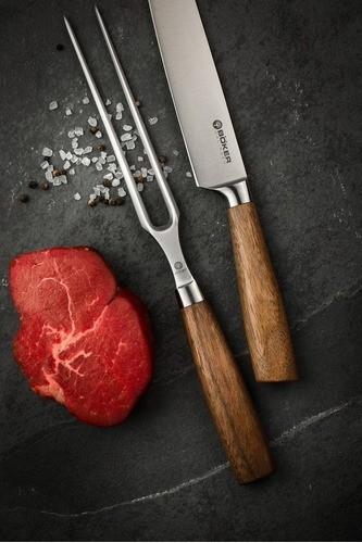 Garfo Para Carne Böker Core Com Cabo Em Madeira De Nogueira