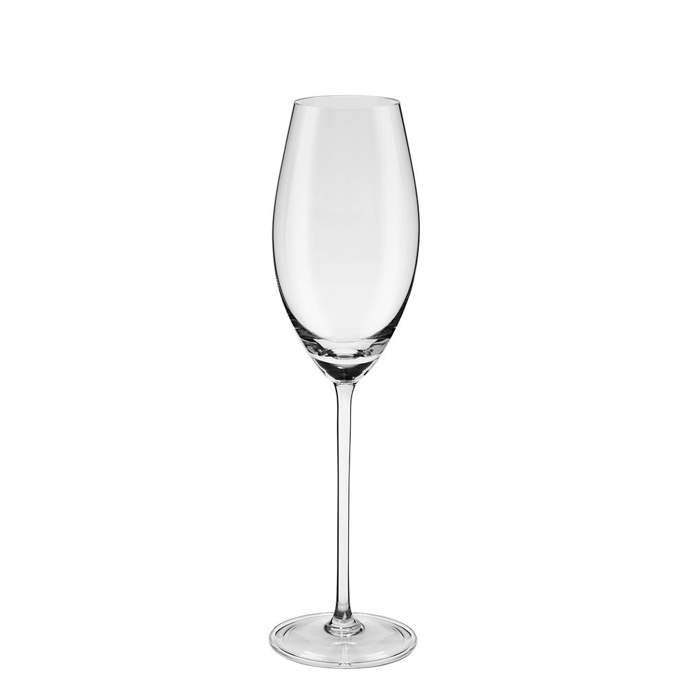 Jogo De 6 Taças De Cristal Espumante 230ml Oxford Crystal Handmade