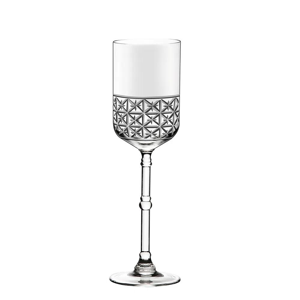 Jogo De 6 Taças De Cristal P/ Água 416ml Cidade Da Garoa Oxford Crystal Handmade