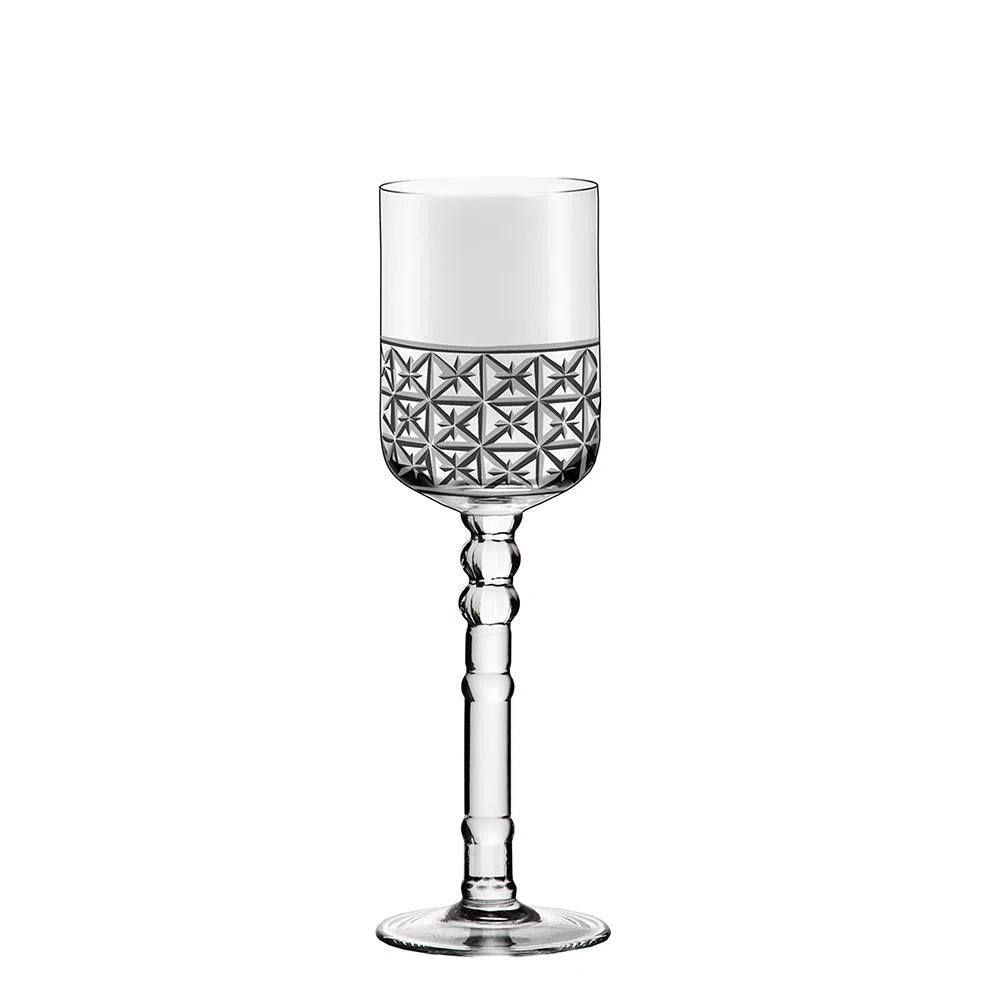 Jogo De 6 Taças De Cristal P/ Vinho Tinto 350ml Cidade Da Garoa Oxford Crystal Handmade