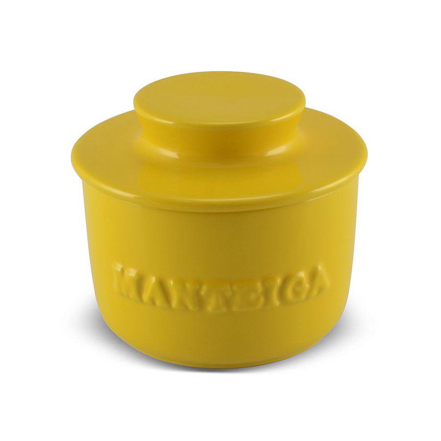 Manteigueira De Cerâmica 250GR Mondoceram Gourmet - Amarelo