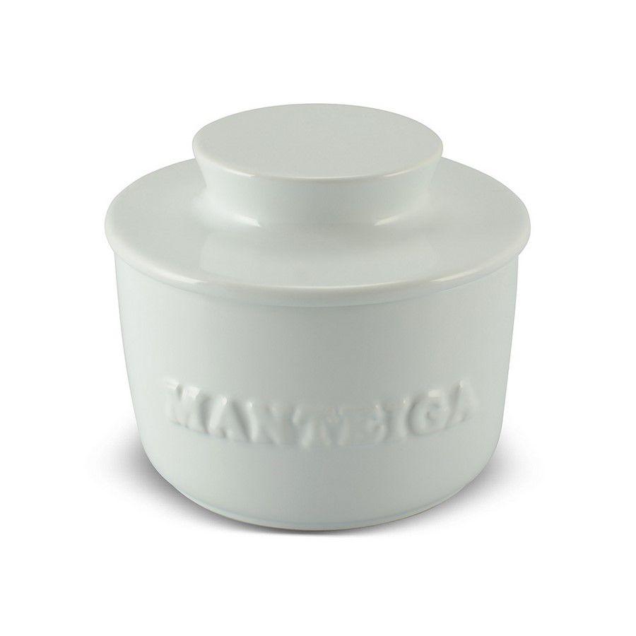 Manteigueira De Cerâmica 250GR Mondoceram Gourmet - Branca