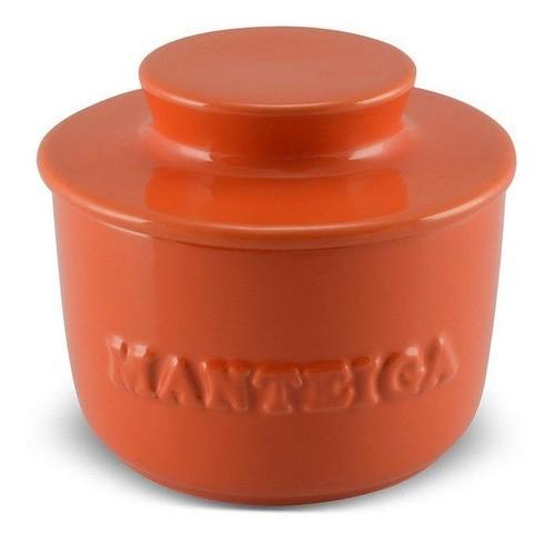 Manteigueira De Cerâmica 250GR Mondoceram Gourmet - Laranja