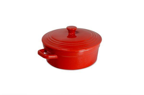 Mini Caçarola De Cerâmica Ceraflame 550Ml Vermelho