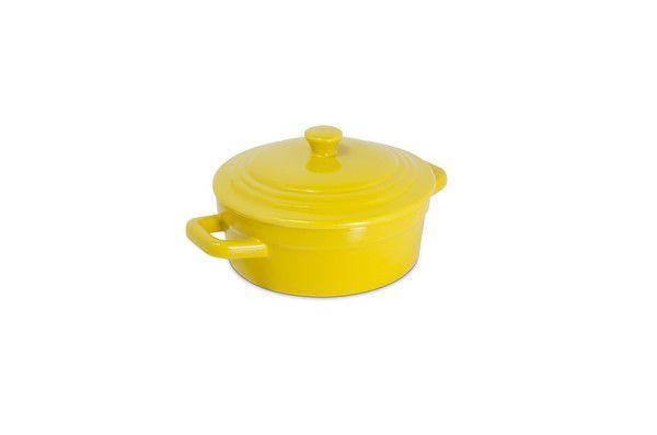 Mini Caçarola de Cerâmica Mondoceram 200Ml Amarelo
