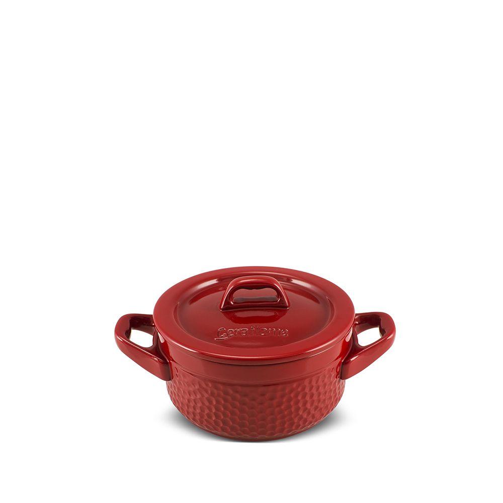 Mini Caçarola Em Cerâmica Martelada 11Cm 300Ml Pomodoro
