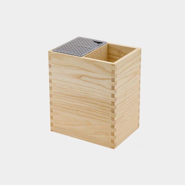 Porta Facas E Utensílios Legnoart Mistery Box Em Madeira Clara