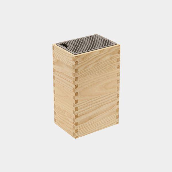 Porta Facas Legnoart Mistery Box Em Madeira Clara
