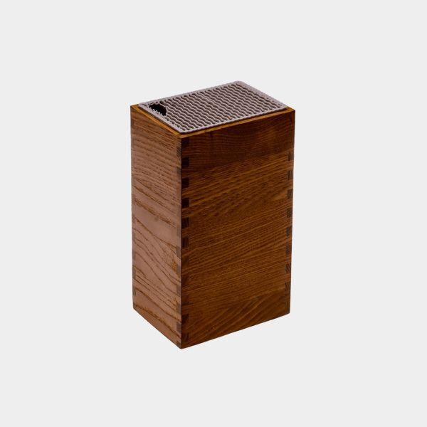 Porta Facas Legnoart Mistery Box Em Madeira Escura