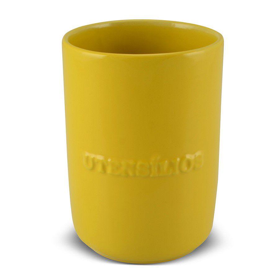 Porta Utensílio De Cerâmica 1300Ml Mondoceram Amarelo