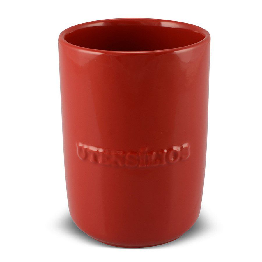 Porta Utensílio De Cerâmica 1300Ml Mondoceram  Vermelho