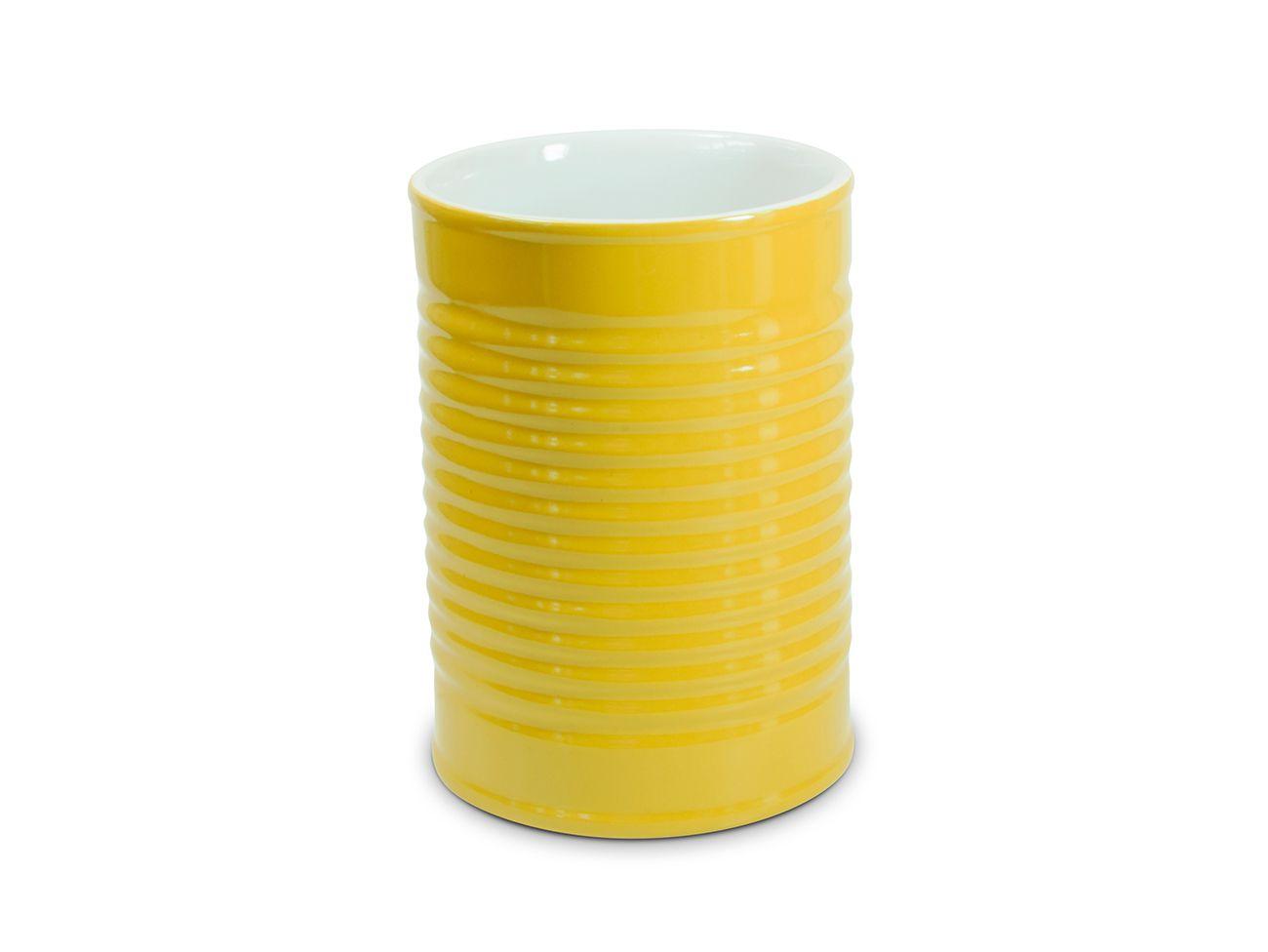Porta Utensílios Lata De Cerâmica 1300Ml - Amarelo Ceraflame