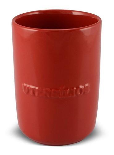 Porta Utensílios De Cerâmica 1300Ml Ceraflame  Vermelho