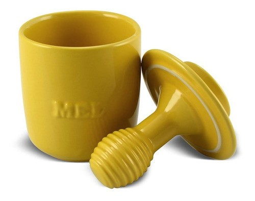 Pote de Mel De Cerâmica 350GR Ceraflame Gourmet Amarelo
