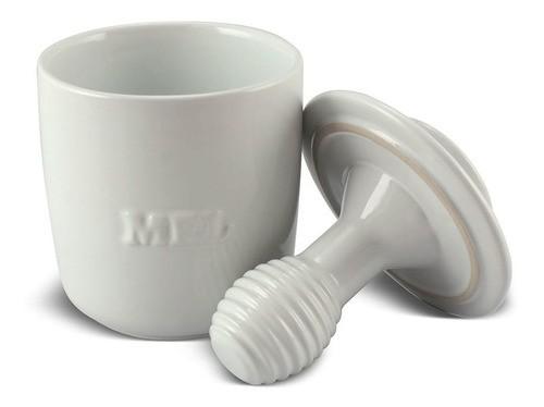 Pote de Mel De Cerâmica 350GR Ceraflame Gourmet Branco