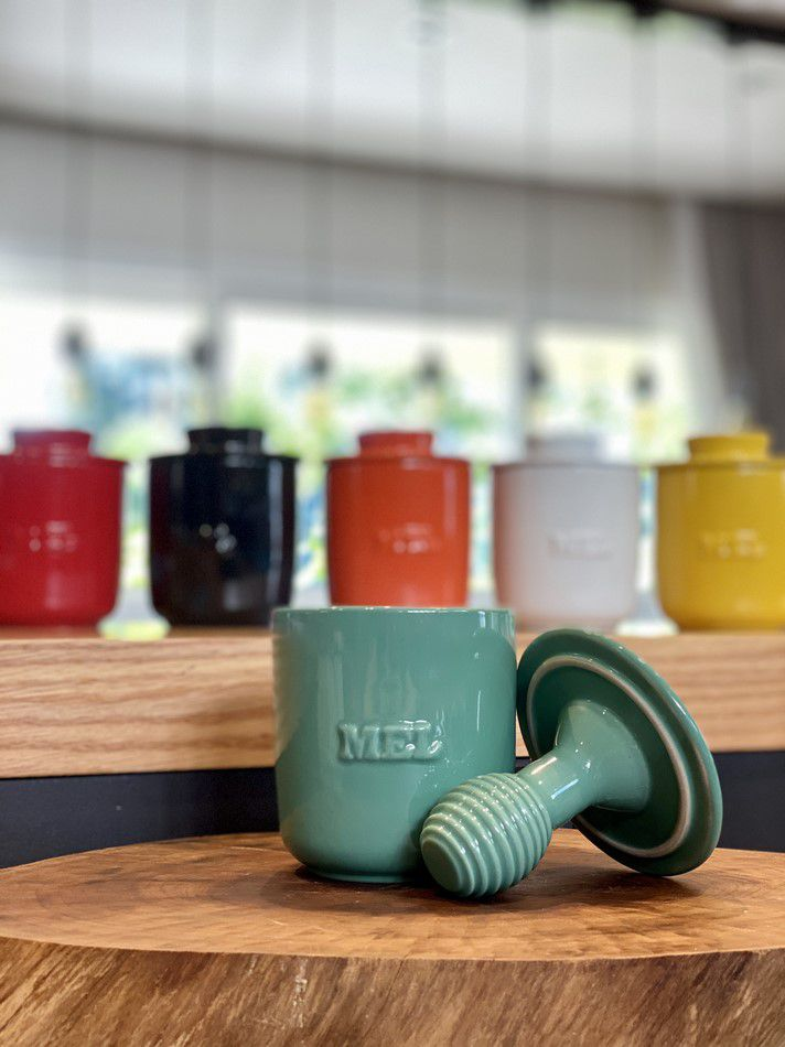 Pote de Mel De Cerâmica 350GR Mondoceram Gourmet  Pistache