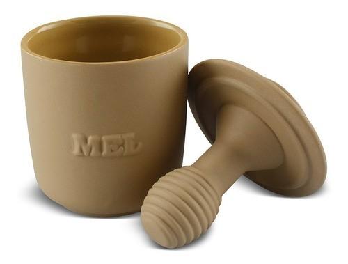 Pote de Mel De Cerâmica 350GR Ceraflame Origens Ocre