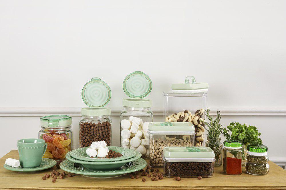 Pote De Vidro 1 Litro Para Mantimentos Oxford Porcelanas