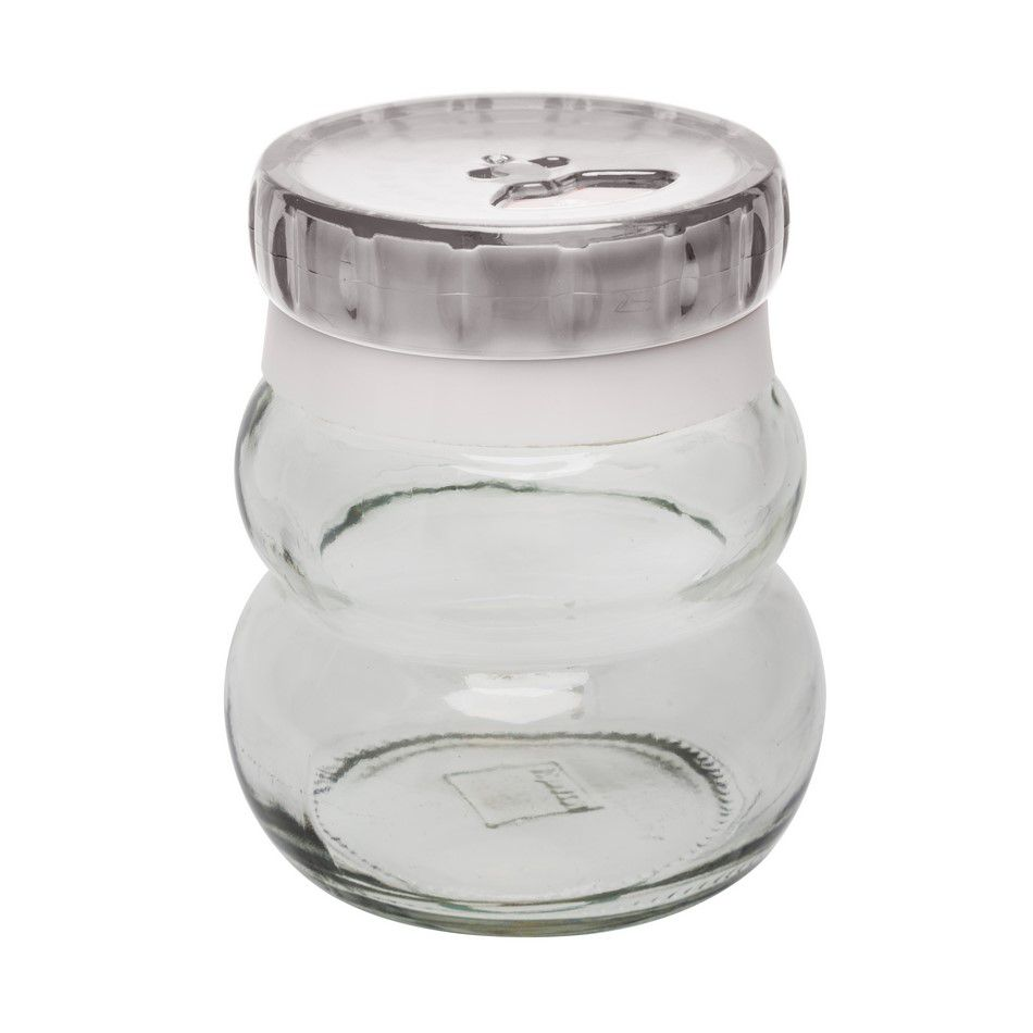 Pote De Vidro Redondo Para Temperos 150Ml - Transparente - Oxford Daily