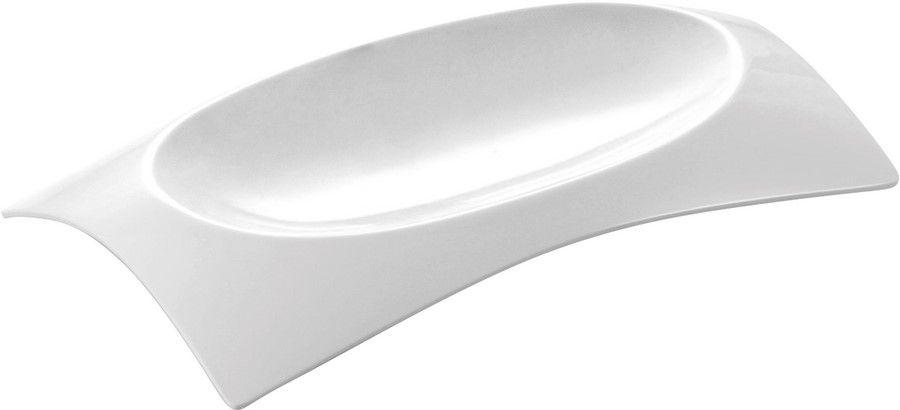 Prato Belisco Em Melamina 15X9,5Cm - Branco Marfim - Oxford