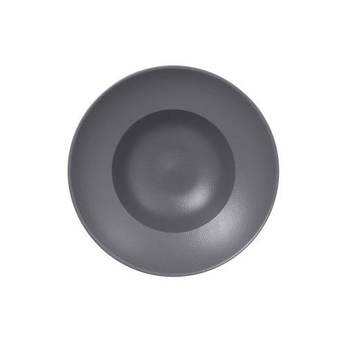 Prato de Porcelana Extra Fundo Redondo 26 Cm Cinza - RAK Neo Fusion