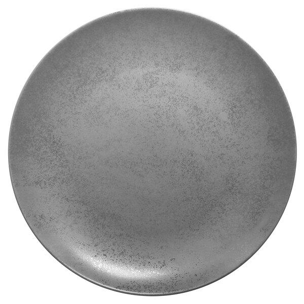 Prato de Porcelana Redondo Raso 29 Cm Cinza - RAK Shale