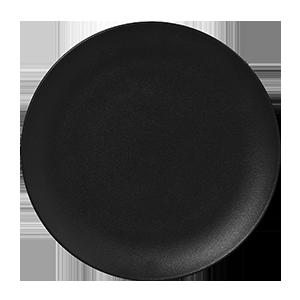 Prato de Porcelana Redondo Raso 29 Cm Preto - RAK Neo Fusion
