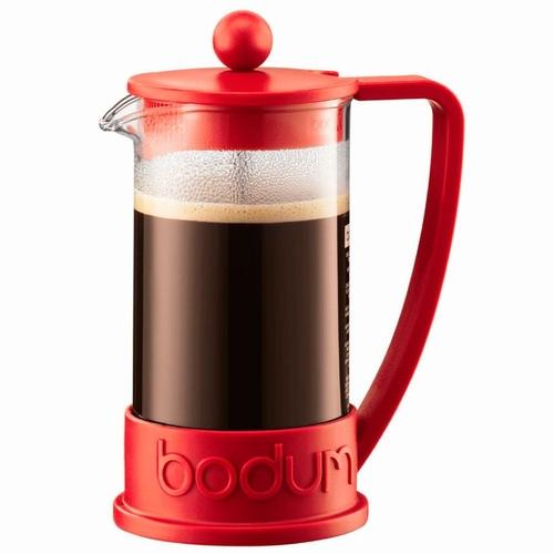Cafeteira Prensa Francesa Para Preparação De Chá e Café 350 ml Bodum Vermelha