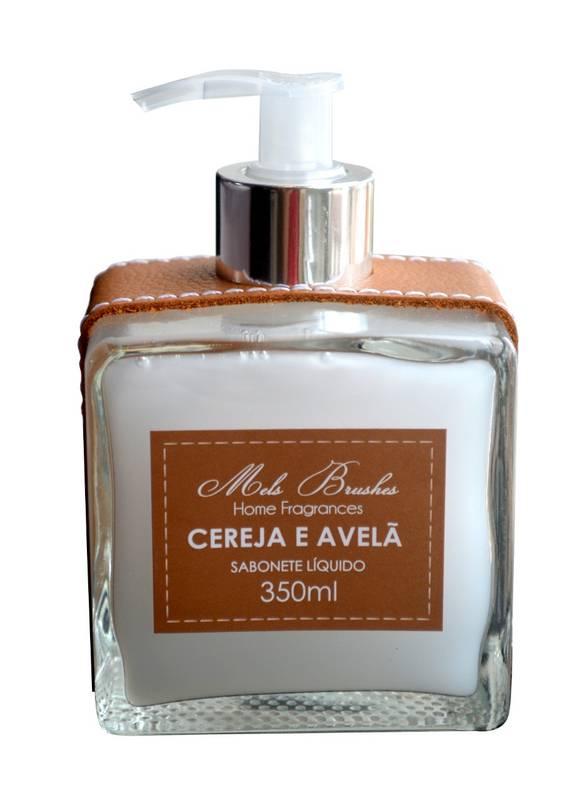 Sabonete Líquido Luxo Couro 350 Ml - Cereja e Avelã - Mels Brushes