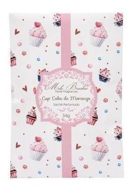 Sachê Aromatizante Cupcake De Morango - 34G - Mels Brushes